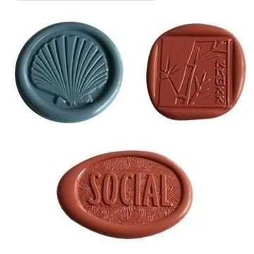 particular design wax seals with adhesive tape/custom stickers