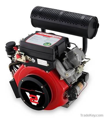 25HP Twin-Cylinder Air-cooled Diesel Engine
