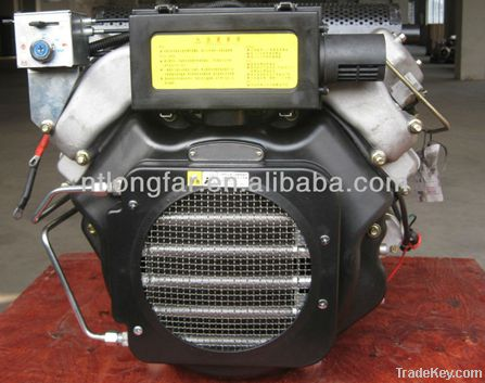 27HP Double-Cylinder V-Twin Air-cooled Diesel Engine