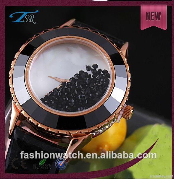 2014 ladys fashion wistwatch with charming pattern Japan movement