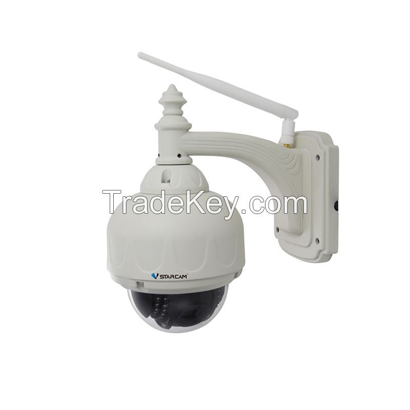 Vstarcam T7833WIP-X3 Outdoor PTZ 3X Zoom P2P Plug and Play Pan/Tilt Wireless/WiFi 720P IP Camera Security Micro SD Card
