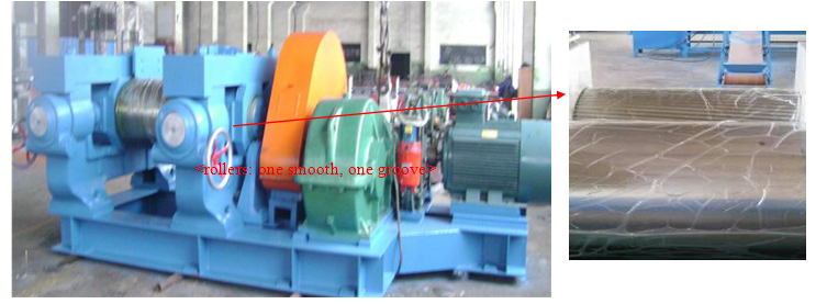 Semi-automatic rubber powder production machine