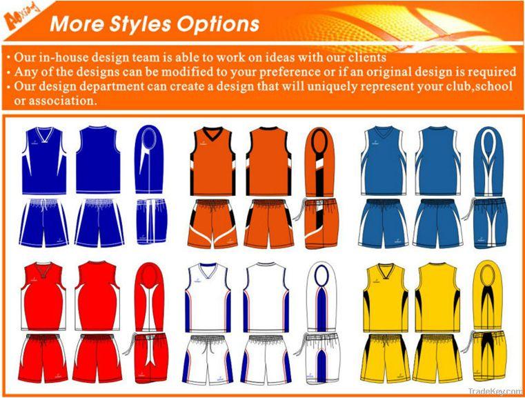 wholesale polyester basketball jersey wear