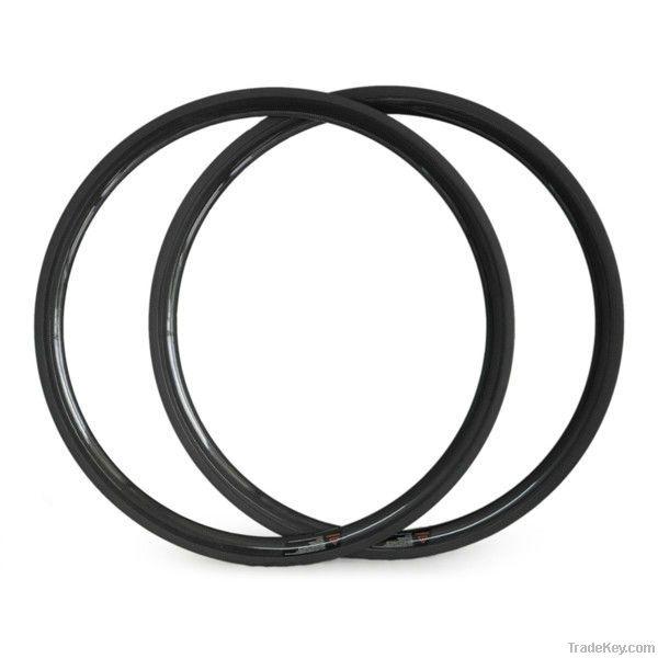 2014 Hot Quality SULUN U-Shape 25MM Wide Carbon 38mm Tubular 700c Bik