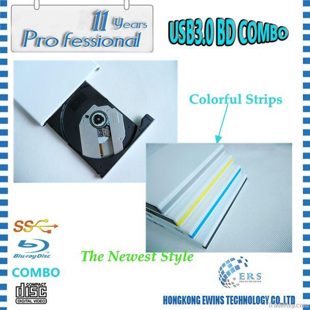 100% Brand New USB3.0 External Blu-Ray Combo/ BD Combo Drive