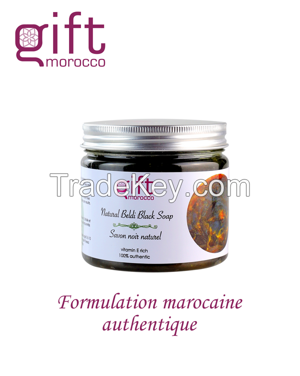 Moroccan Authentic Black Soap - Neutral, with Organic Argan oil, with Essential Oils