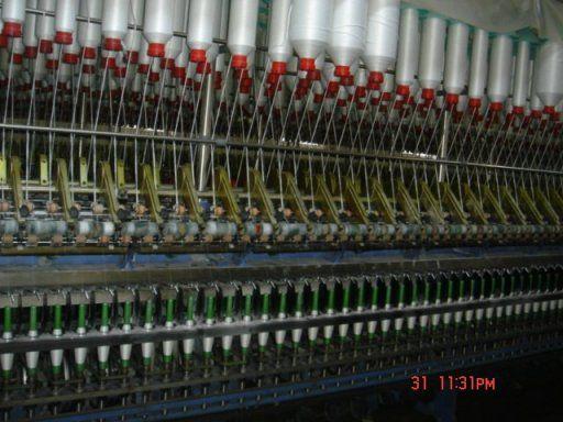 RW close virgin polyester spun yarn
