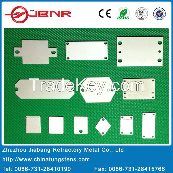 Electronic Packaging W80cu Tungsten Copper Alloy Substrate Mounting Base Plate