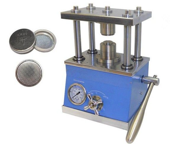 Coin Cell Crimping machine for CR20XX series CR2016 CR2025 CR2032 cases sealing