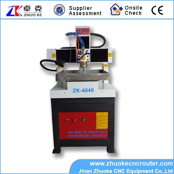 small high accuracy metal cnc engraving machine for copper, aluminum  ZK-4040 400*400mm