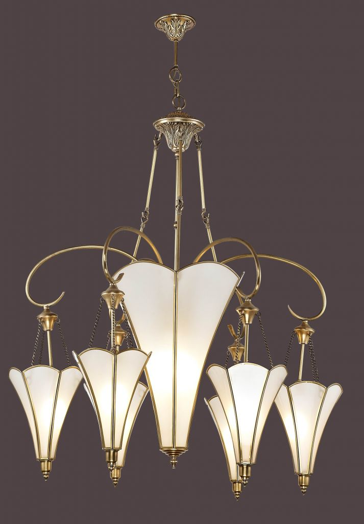 Classical Cooper Chandelier in Living room for 008-2472-PL