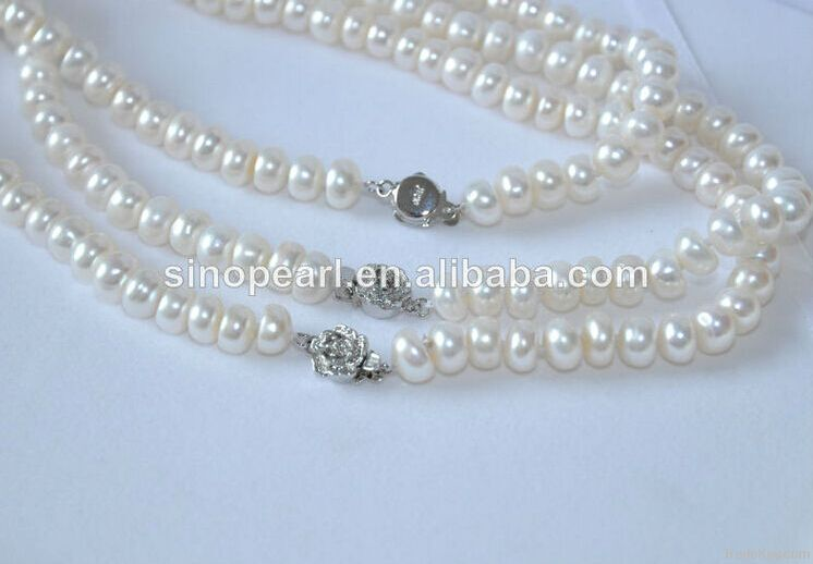 Freshwater Pearl necklace, Charming and magnetic