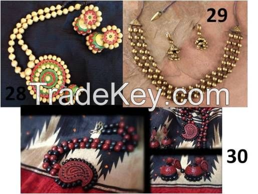 Hand Made Terracotta Jewelleries, Dokra Tribal crafts and Jute hold hold items