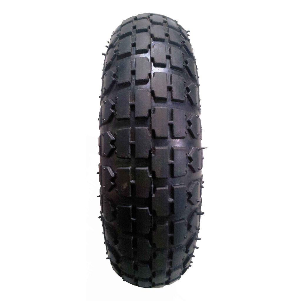 3.50-4 pneumatic tire rubber wheel for hand truck, wheelbarrow, garden cart, trolley