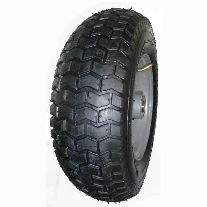 6.50-8 pneumatic tire rubber wheel for hand truck, wheelbarrow, garden cart, trolley