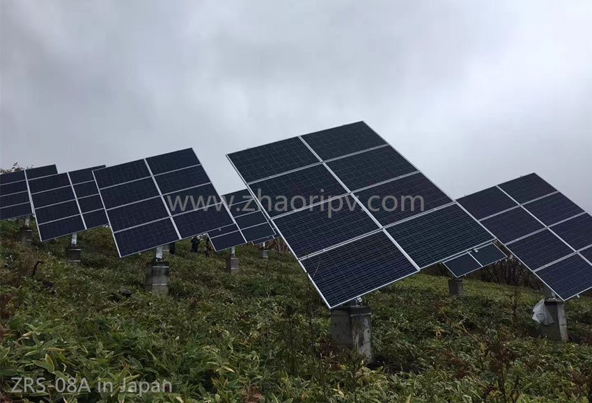 ZRS-08 semi-auto dual axis solar tracking system, ZRS-10