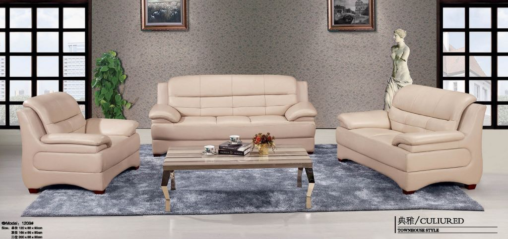 Imported Leather Office Sofa Set 3+2+1