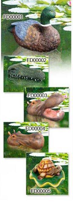 Floating Pond decor-Duck,Crocodile,Hippo,Turtle