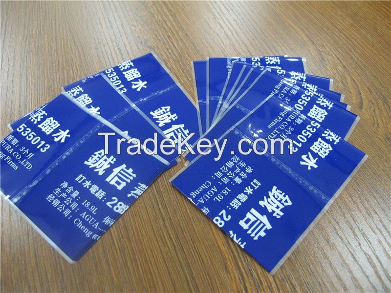 30u customized shrink plastic water bottle labels