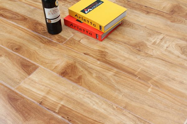 High glossy Laminate Flooring Water proof Waxed 12mm