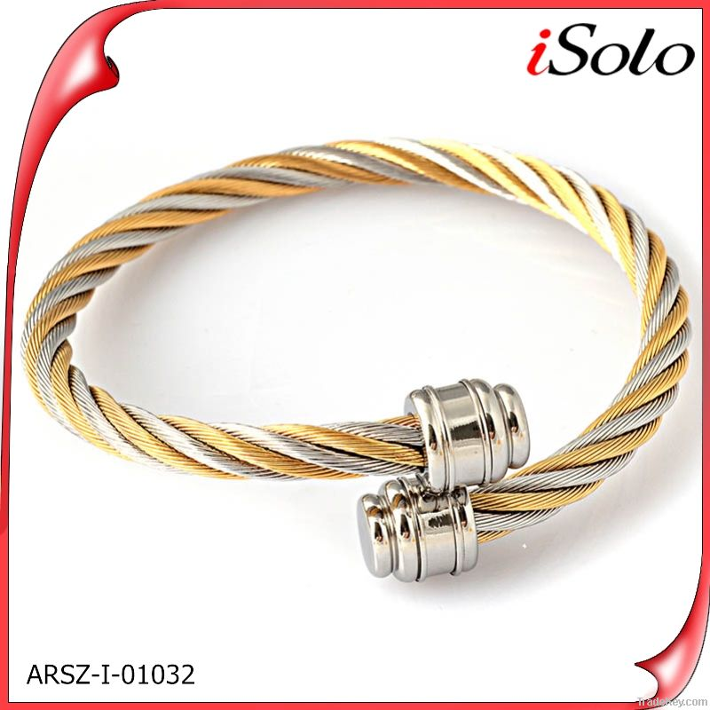 china wholesale supplier fashion jewelry accessory cuff wire bracelet