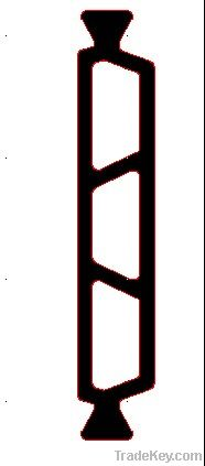 PA66GF25 nylon heat Insulation strip type 35.3mm