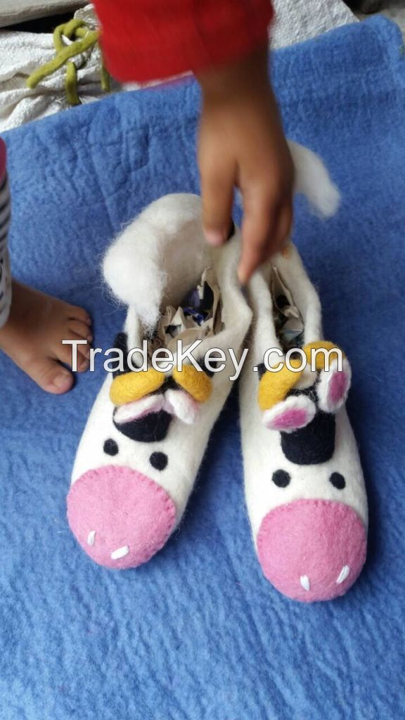 Shoes, felt  shoes,felt clogs,  felted wool slippers