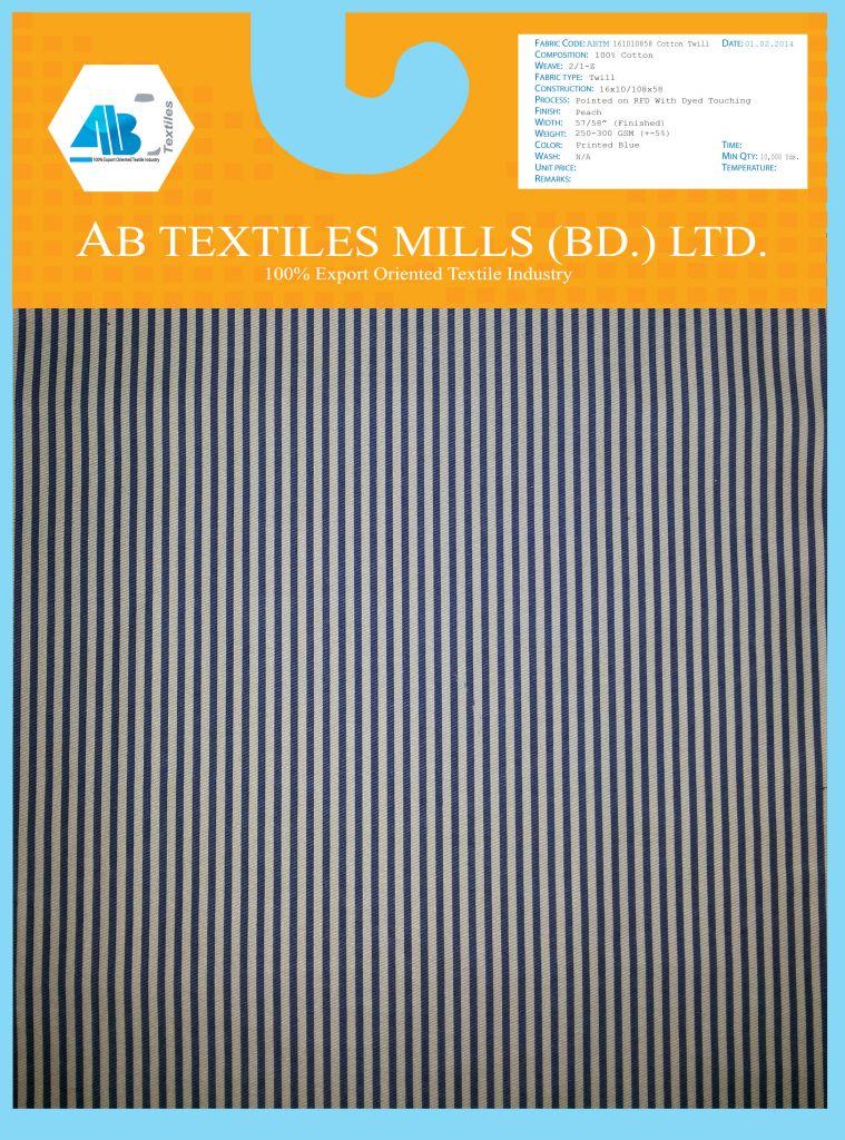 98% Cotton 2% Spandex Twill