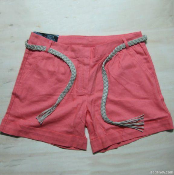 197, 478pcs Ladies esmara fashion linen shorts with waist line TC1-462