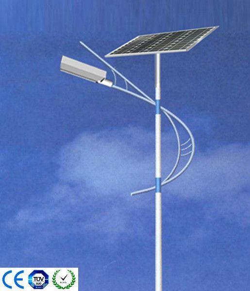 CE ISO TUV RoHS solar LED street light 6m 30w
