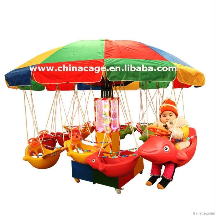 Ellectric hot sale children amusementl fishes revolving seat swing
