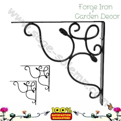 Iron scroll shelf bracket
