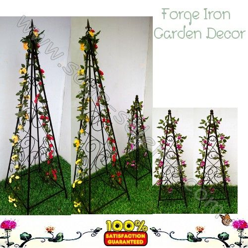 Wrought iron plant support