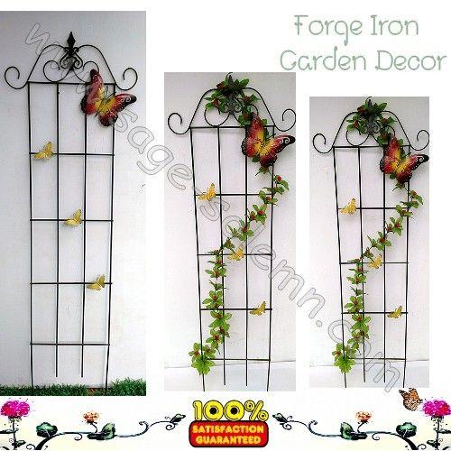 Wrought iron plant trellis