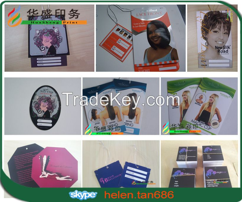 Hot sale custom garment paper hang tag, garment label