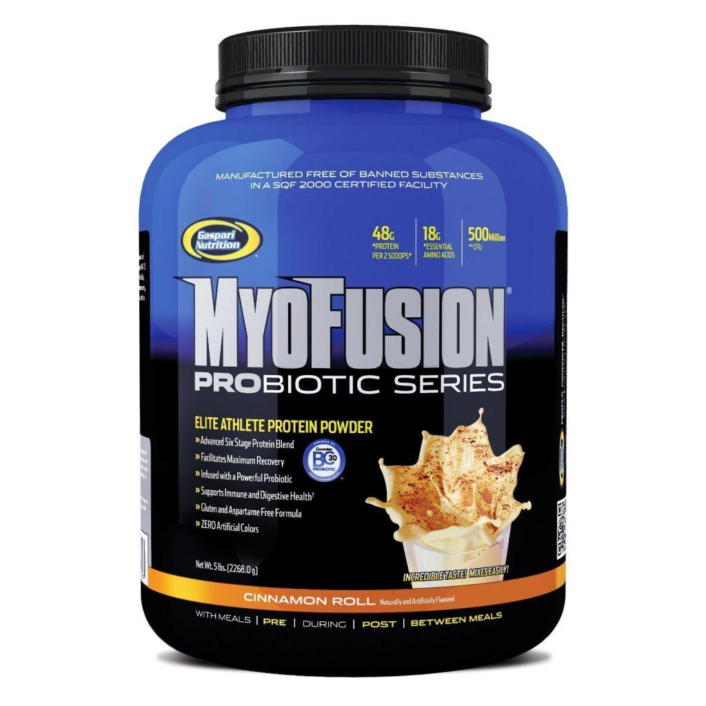 Gaspari Nutrition - Myofusion Probiotic Series Milk Chocolate, 5 lb powder