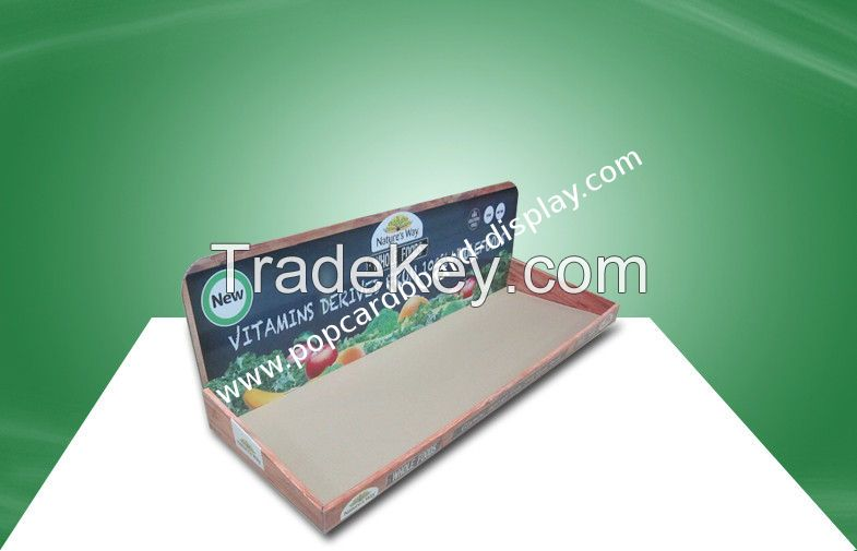 Easy Assmbly Cardboard PDQ Trays Promoting Kid Medicine Stores