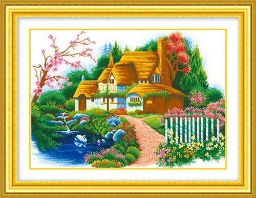 Diy Cross Stitch Diamond Painting For Living Room Decoration