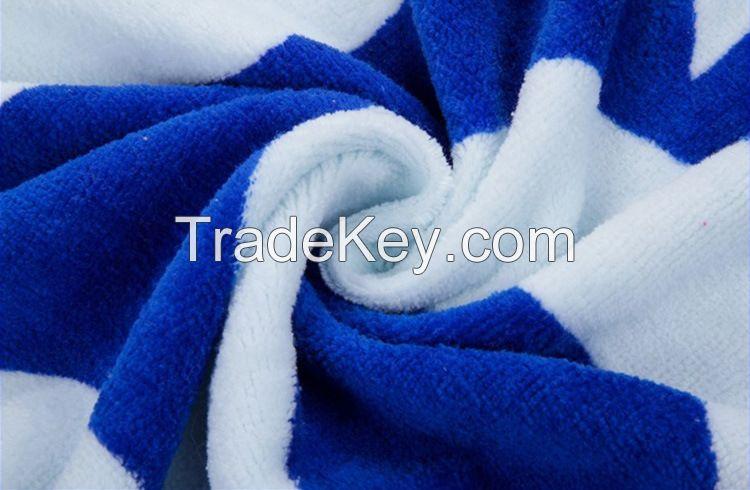 100% Cotton Custom Promotional Velour Reactive Printed Beach Towel
