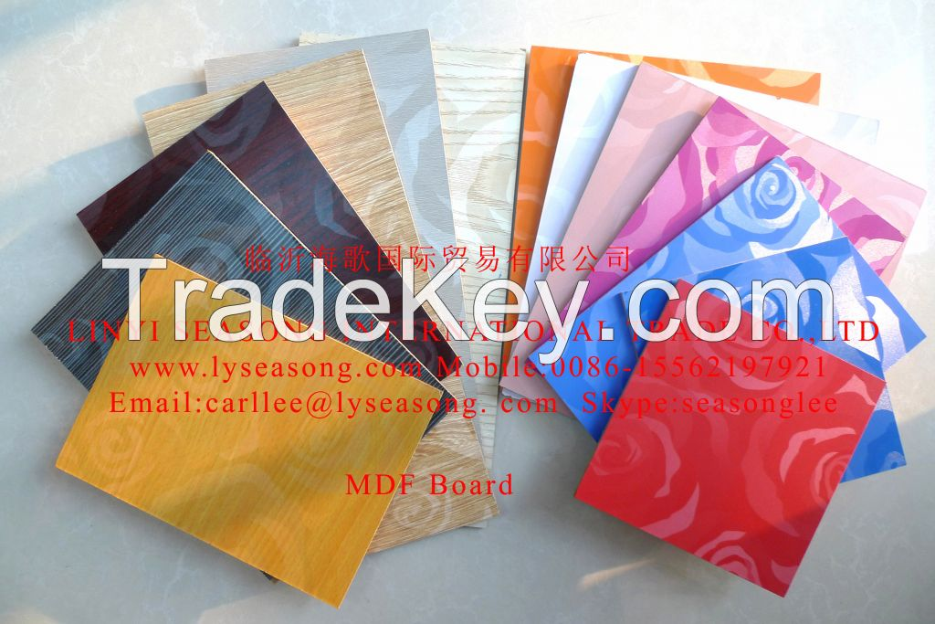 1220*2440mm 2.0-25mm Chinese more colors melamine mdf board