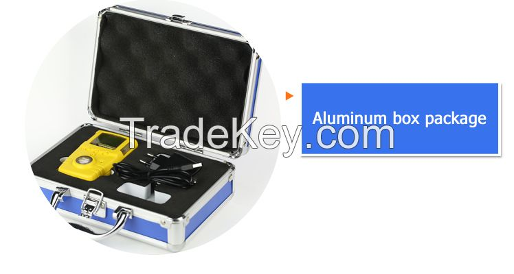 Portable gas detector price for CO, H2S, O2, O3, CL2, H2, NH3, CO2, HF, C2H4, C2H2, etc.