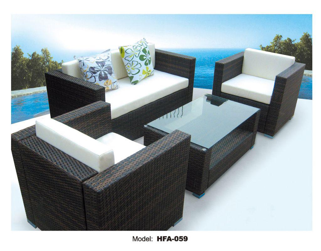 Wholesale import PE rattan outdoor wicker furniture sofa