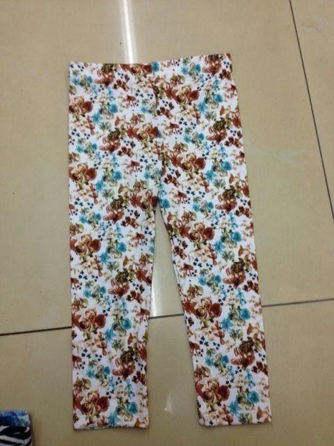 Printing Casual Viscose Pants