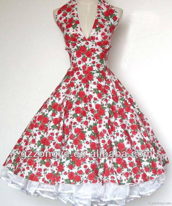 1950s fashion vintage swing dress rockabilly dress retro dress