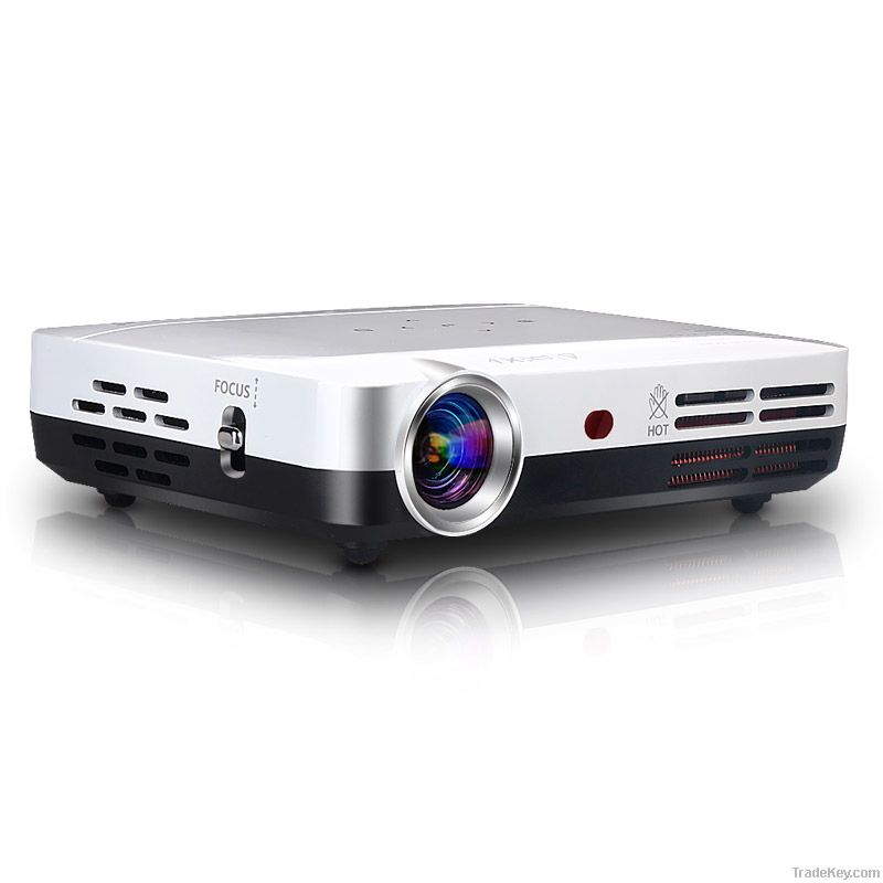Video Full hd 1080p Portable 3D Cinema Projector Convert 2D to 3D Mini