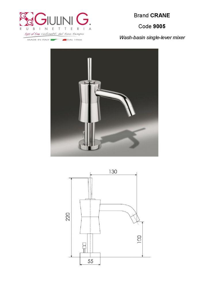 Wash-basin single-lever mixer CRANE