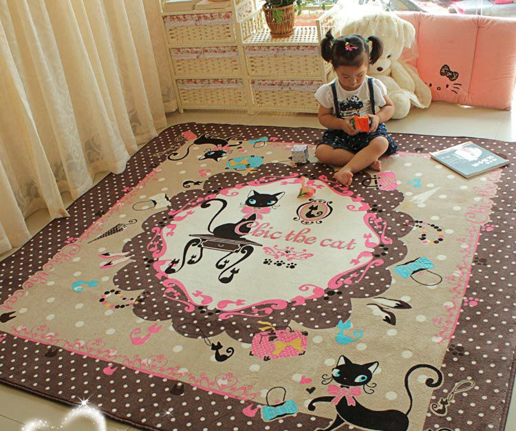 Machine-made printed carpet, Hellokitty Cartoon children crawling mat