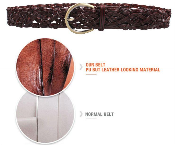 western style popular pu belt accessories