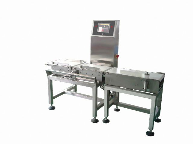 bag / box /jar / polybag packed food dynamic weighing scales with rejecting device