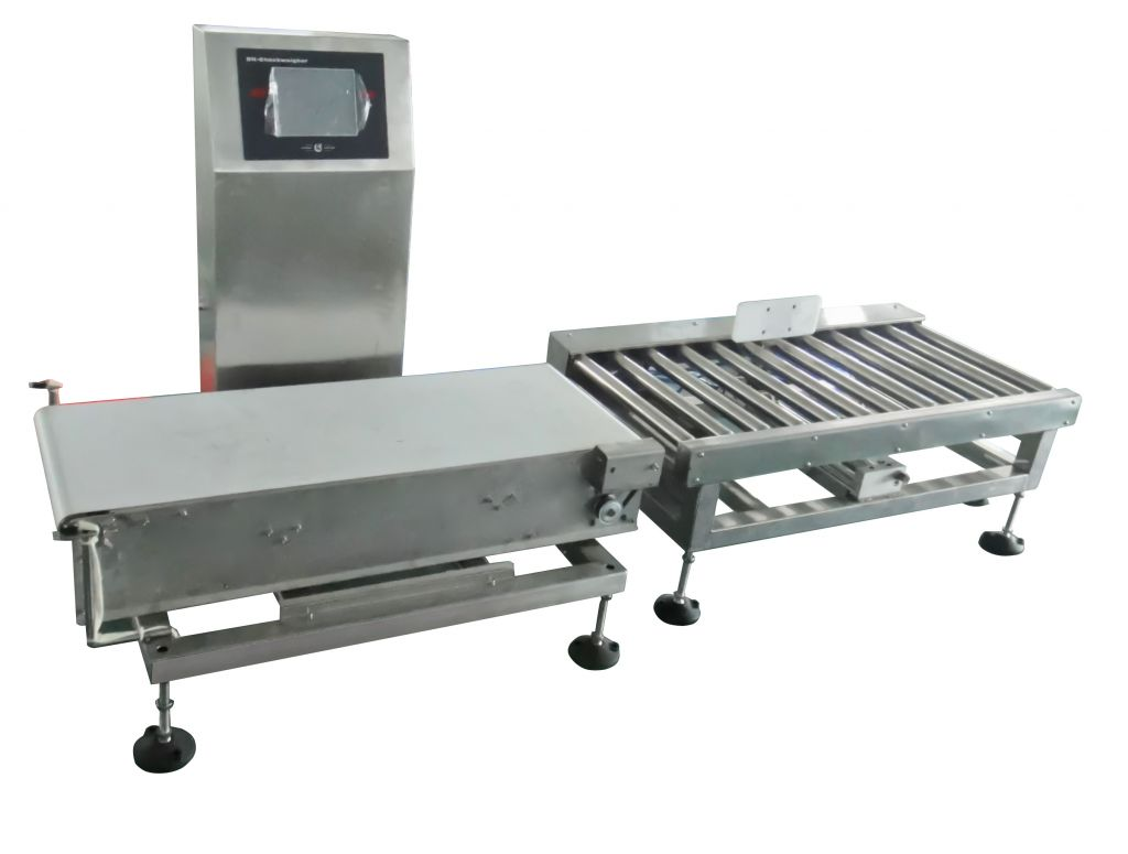 Automatic conveyor industrial checkweigher for carton packaging products